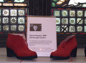 The shoes of Edinburgh MSP Sarah Boyack