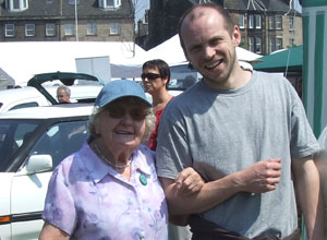 94 year old Leither, Margaret Laurenson with social care worker Stephen Berry