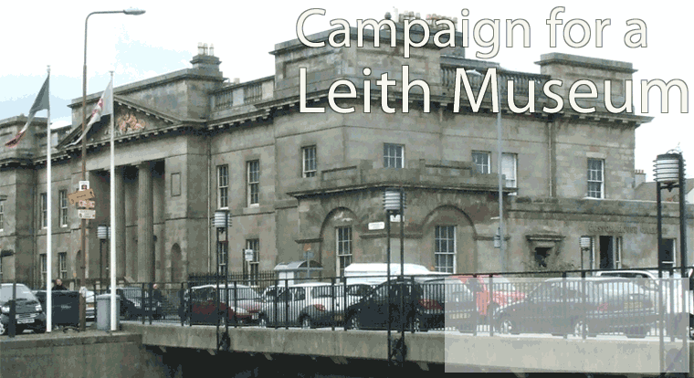 Leith Custom House, seen across The Shore with cars passing in front of it